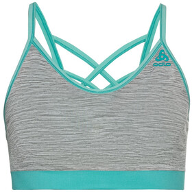 Odlo Seamless Soft Reggiseno sportivo Donna, jaded/grey melange